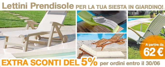 Arredamento giardino prezzi mobili da giardino barbeque for Lettini da giardino economici