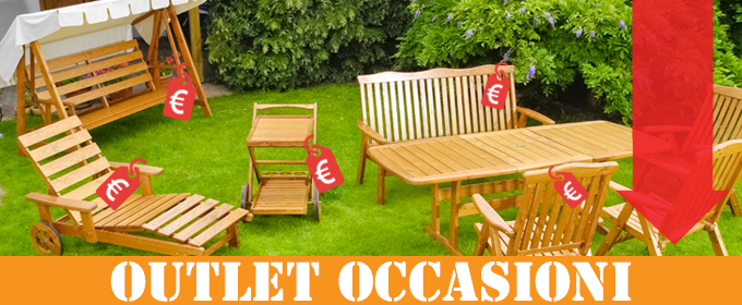 Occasioni sottocosto arredo for Occasioni mobili da giardino