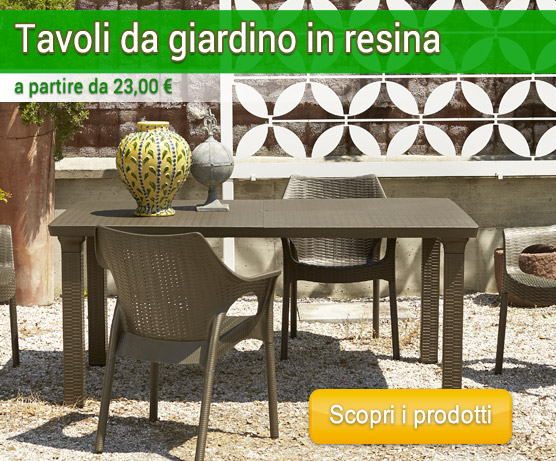 Tavoli Da Giardino In Resina Prezzi.Tavoli In Resina Arredo Giardino Com