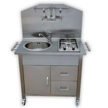 Cucina da esterno a metano gas con 2 fuochi e lavello in acciaio arredo - Cucina gas esterno ...