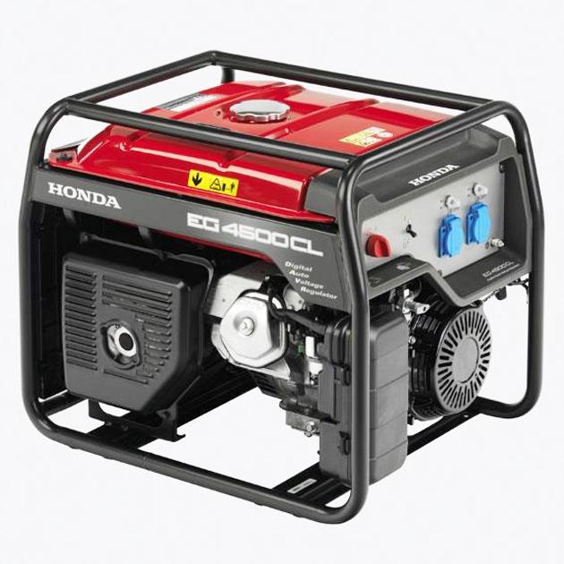 Generatore honda eg 4500 cl it con regolatore di tensione for Generatore di corrente con avviamento automatico