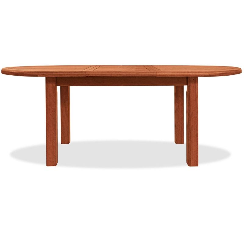 Tavolo da giardino ovale in legno di keruing tuberosa - Tavolo legno ovale allungabile ...