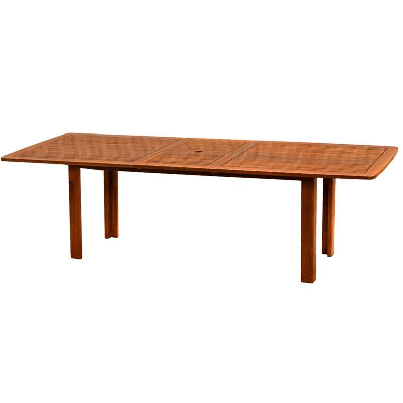 Tavolo in legno keruing citrus rettangolare e allungabile for Tavolo rettangolare allungabile