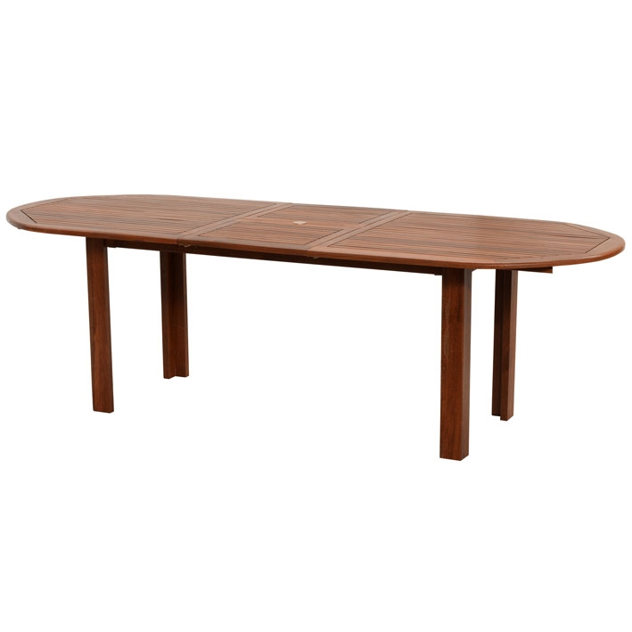 Tavolo in legno keruing peonia ovale e allungabile - Tavoli da esterno in legno ...