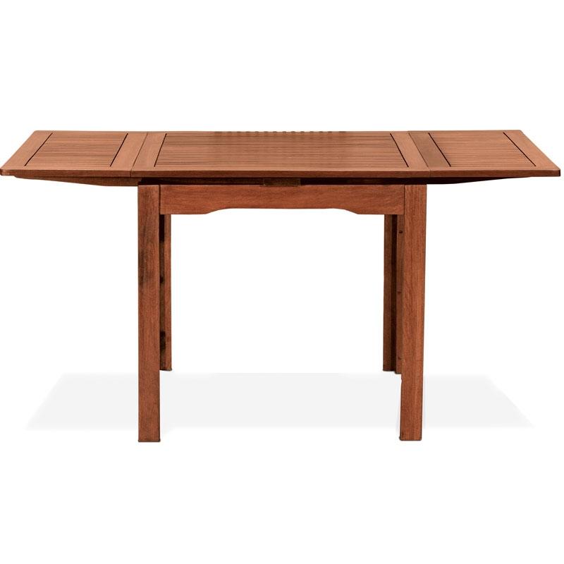 Tavolo in legno keruing palma allungabile con doppia - Tavolo quadrato 80x80 allungabile ...