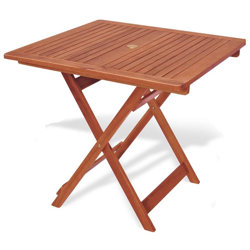 Tavolo pieghevole in legno keruing caprifoglio quadrato arredo - Tavolo legno giardino ...