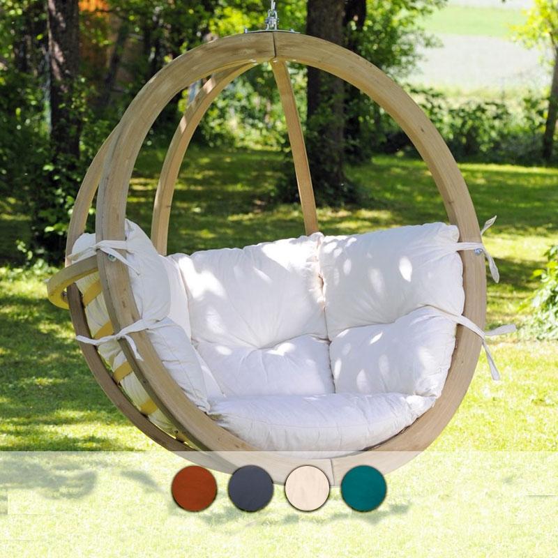 Poltrone Sospese Da Giardino.Poltrona Sospesa Globo Chair By Amazonas Con Struttura In Legno Arredo Giardino Com