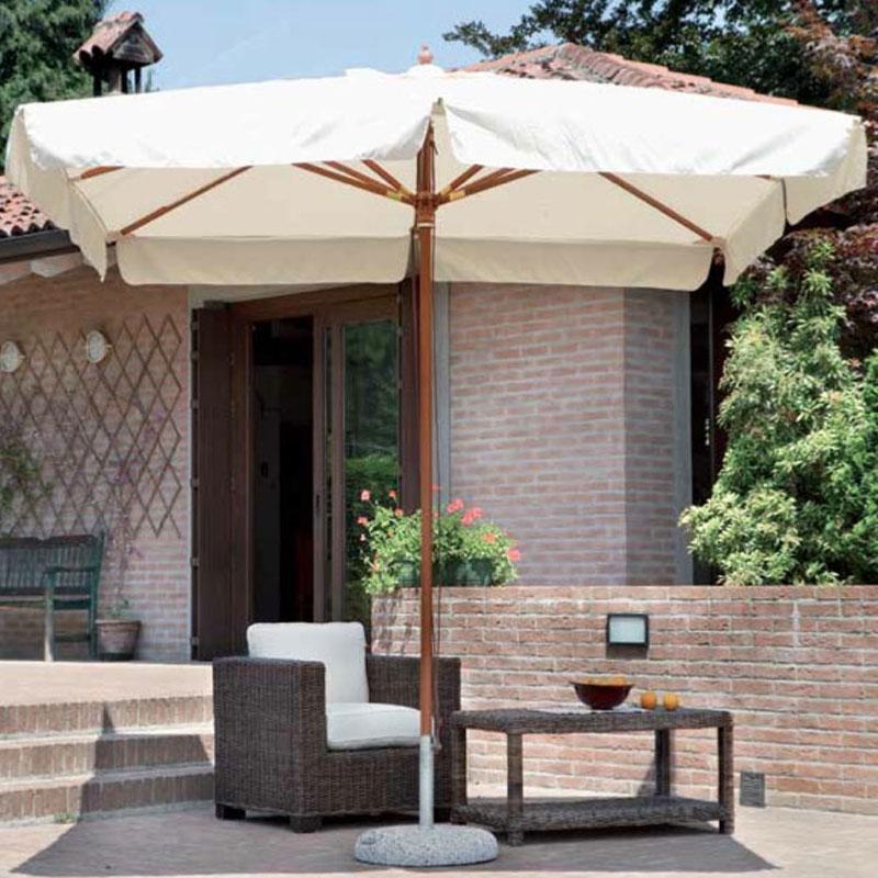Ombrellone roma quadrato 3x3 mt in legno arredo - Riparazione ombrelloni da giardino ...
