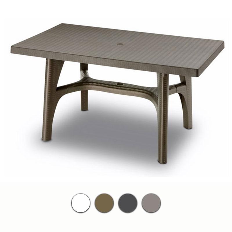 Tavolo da giardino intrecciato in resina by scab arredo for Tavoli da giardino in resina
