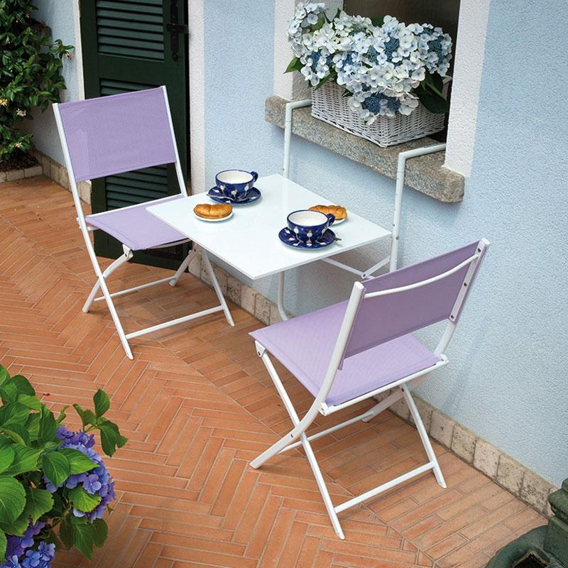Tavolino da esterno ringhiera in ferro pieghevole vari for Poltrone da balcone