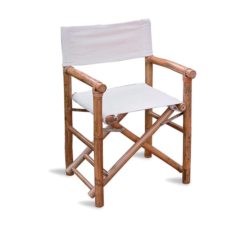 Sedia Da Regista Con Nome.Sedia In Bambu Da Giardino Regista Arredo Giardino Com