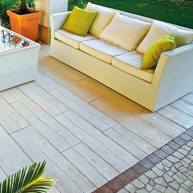 Listone pavimentazione legno autentika 90 x 25 h 3 cm for Arredo giardino legno bianco
