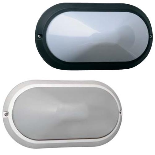 Plafoniera per esterno da muro asti ovale colore bianco o - Plafoniere da esterno ...