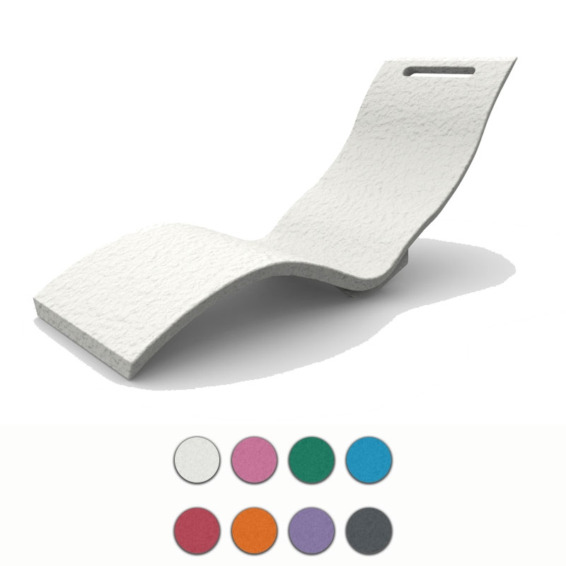 Lettino prendisole serendipity chaise in polietilene colorato arredo - Lettini per piscina in plastica ...