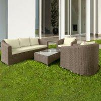 Salotto da giardino in wicker isola bella con cuscini for Arredo giardino firenze