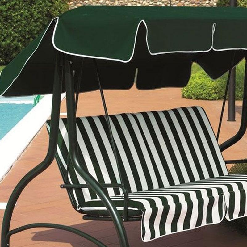 Offerta kit ricambio cuscini tettuccio per dondolo super for Telo copri dondolo 3 posti
