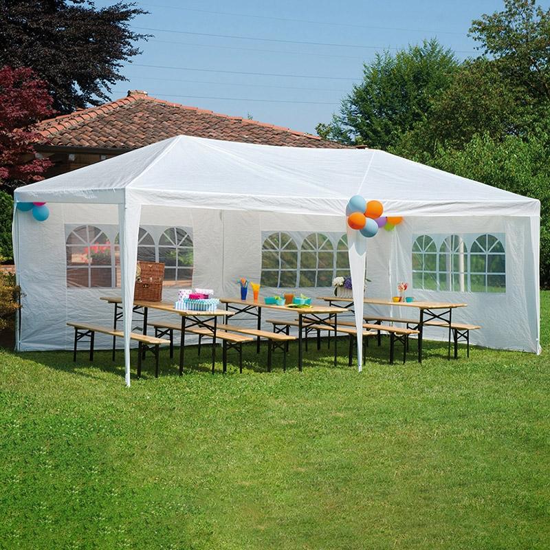 Gazebo da esterno in ferro party 6 x 3 m arredo - Gazebo giardino ikea ...