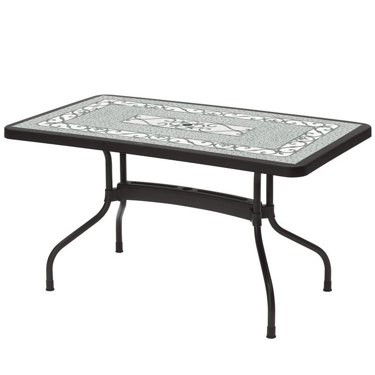 Tavoli Da Giardino Decorati.Tavolo Ribalto Top Antracite Decorato Scab 140x80 Cm Danneggiato
