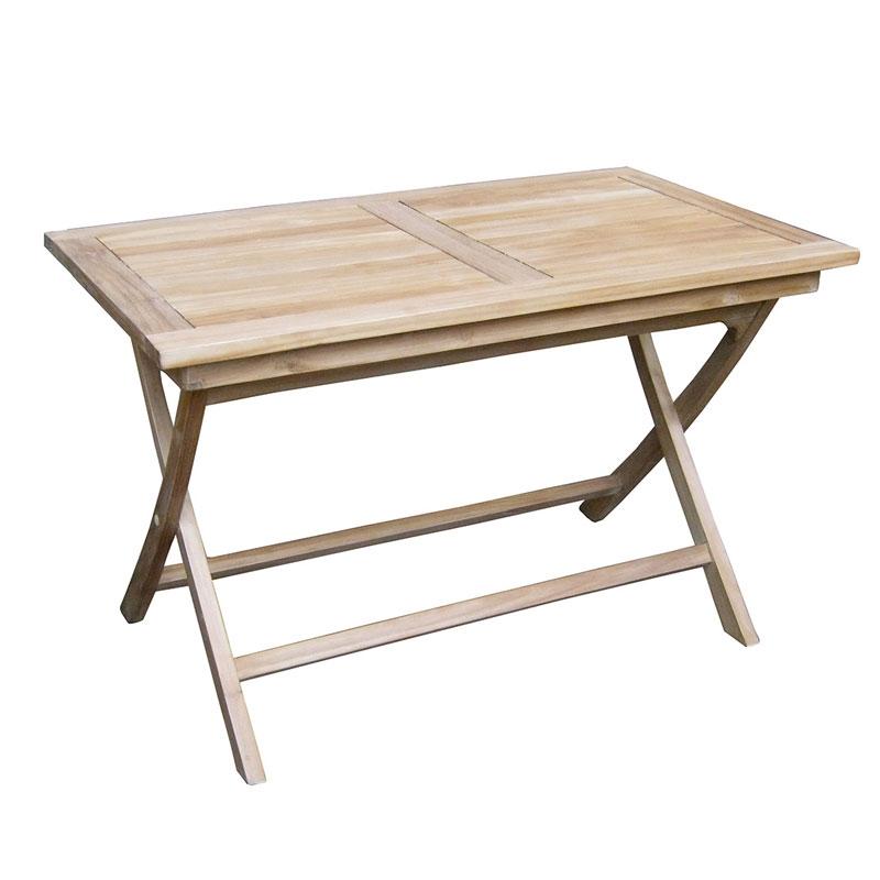 Tavolo lipari in legno legno teak arredo - Tavoli da giardino in legno teak ...