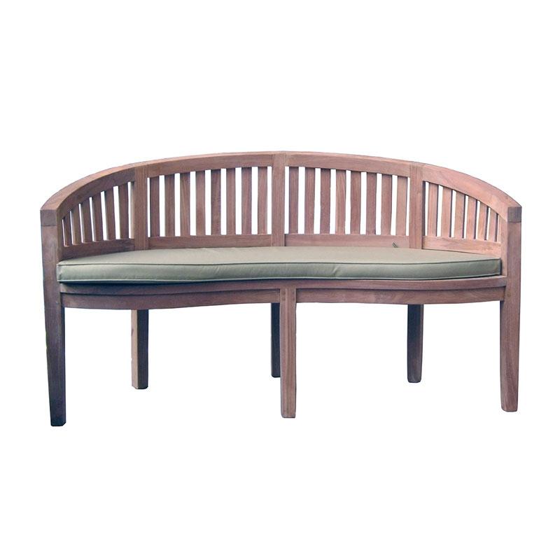Panca in legno teak linosa a 2 posti arredo for Panca arredo