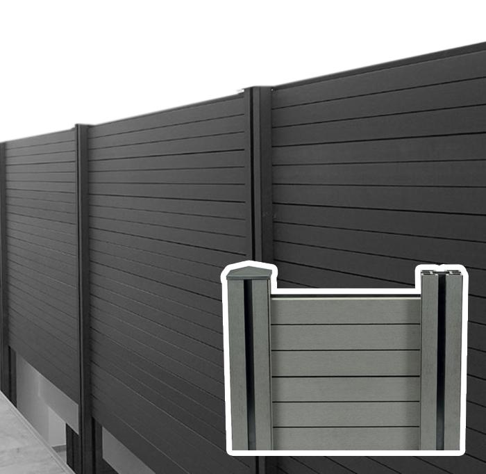 Recinzione in wpc legno composito da esterno arredo for Recinzioni in legno composito