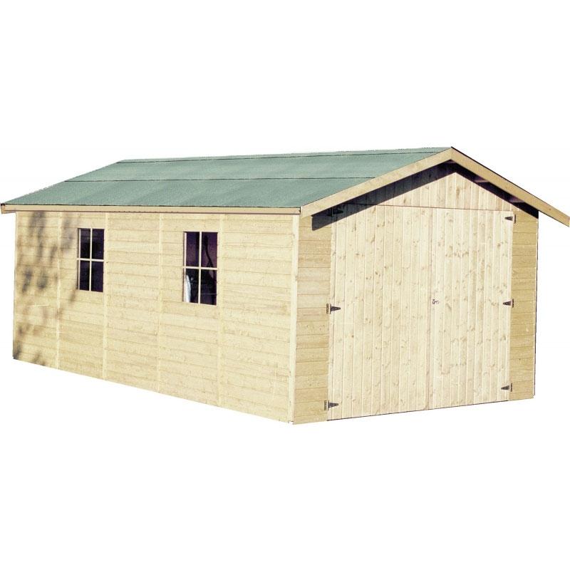Garage in legno poline 3 47 x 5 43 m da esterno arredo - Garage da giardino ...