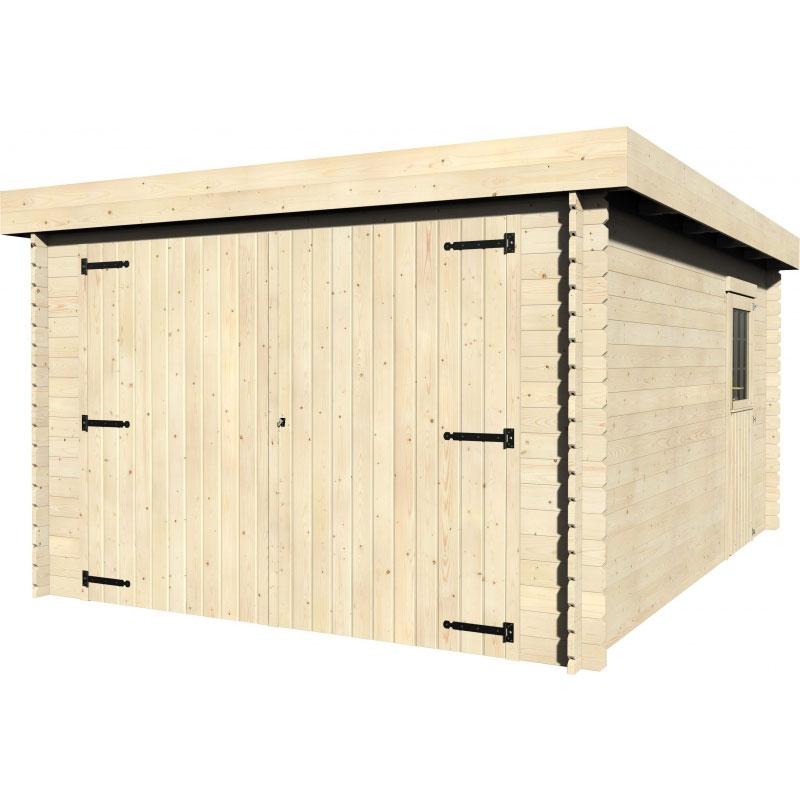 Garage in legno gardan 3 49 x 4 81 m da esterno arredo - Garage da giardino ...