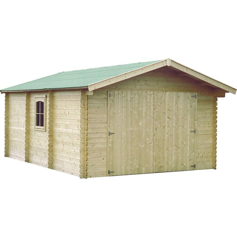 Garage in legno milord 4 03 x 5 99 m da esterno arredo - Garage da giardino ...