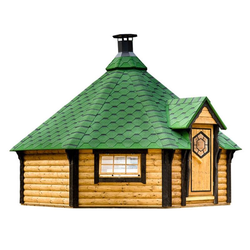 Casetta in legno gaia da giardino 5 2 x h 3 5 m con for Gaia case in legno