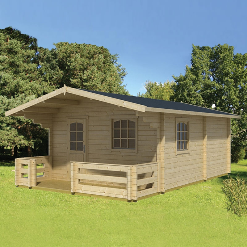 Casa prefabbricata in legno elba 4 20 x 5 40 m arredo - Prefabbricati da giardino ...