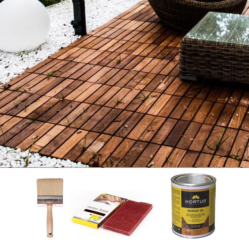 Kit di manutenzione per pavimenti da esterni in legno hortus arredo - Pavimenti in legno per giardino ...