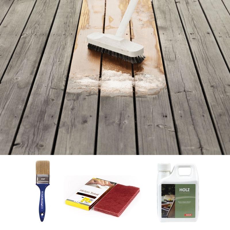 kit pulizia per arredi da giardino e casette in legno