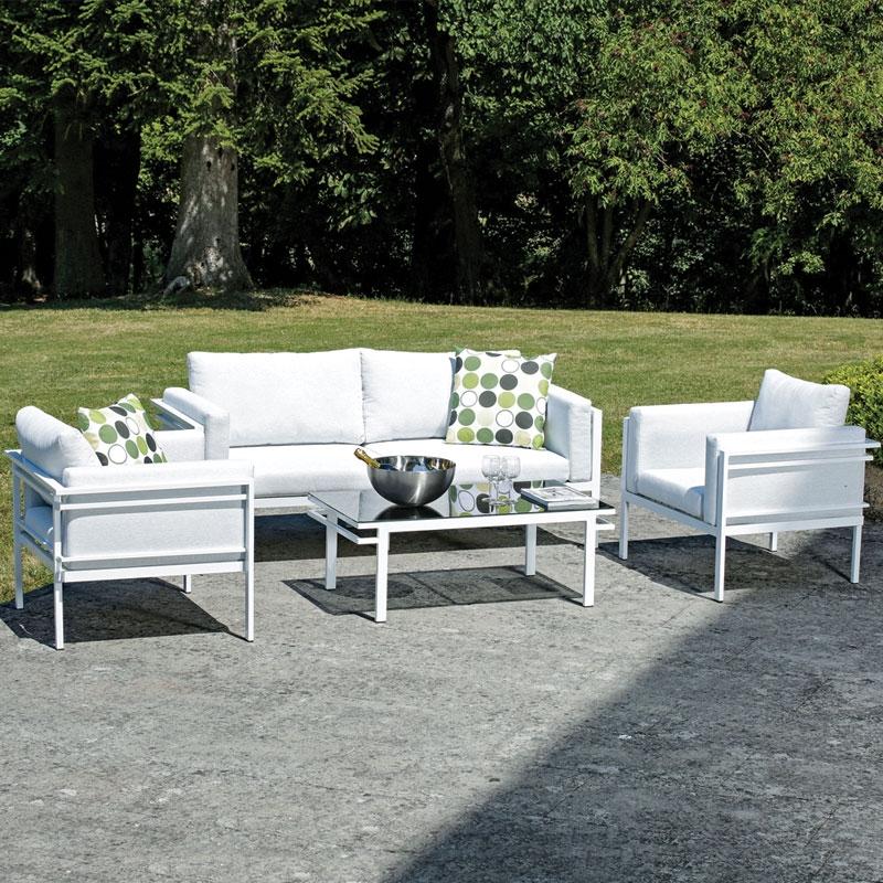 Salotto da giardino rock in bh tex ed alluminio 5 posti for Salotto da giardino amazon