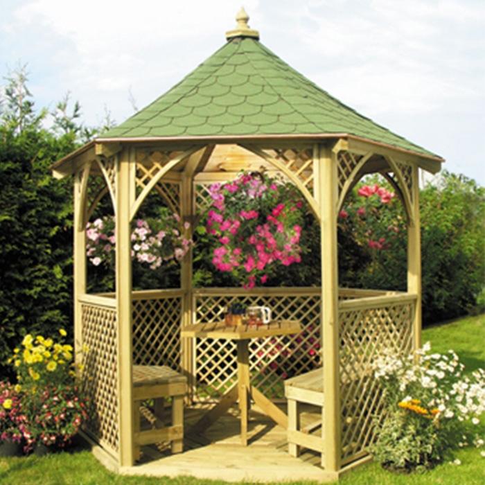 Gazebo da giardino in legno vivaldi arredo for Arredo giardino in legno