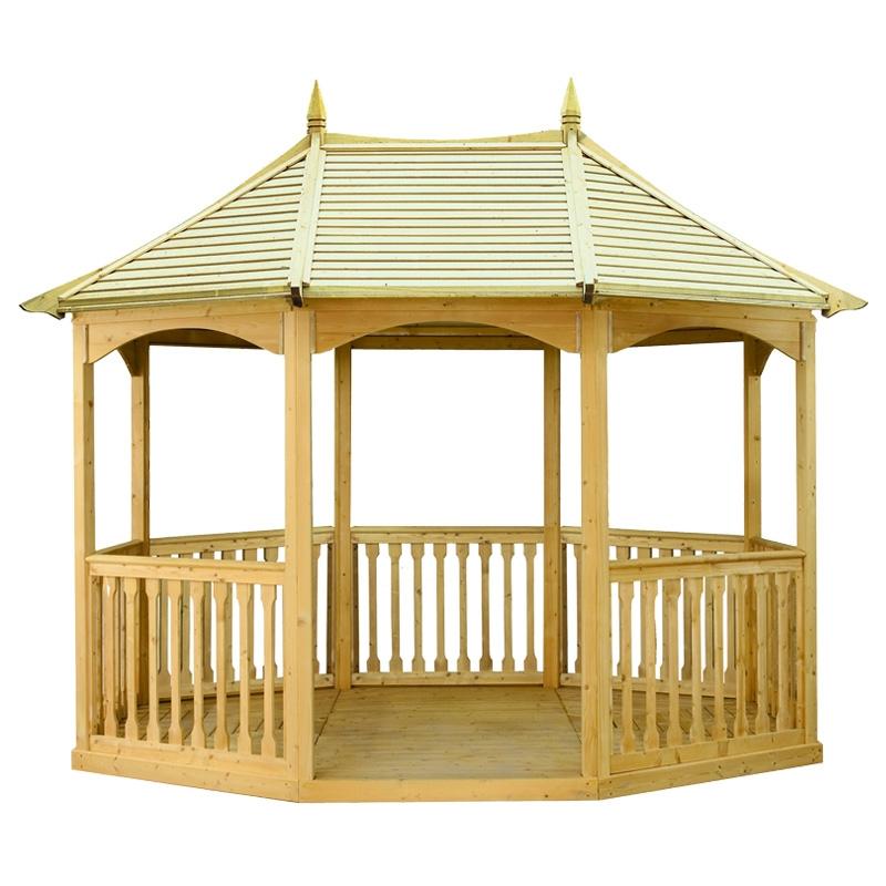 Gazebo da giardino in legno brompton pavilion arredo for Gazebo arredo giardino