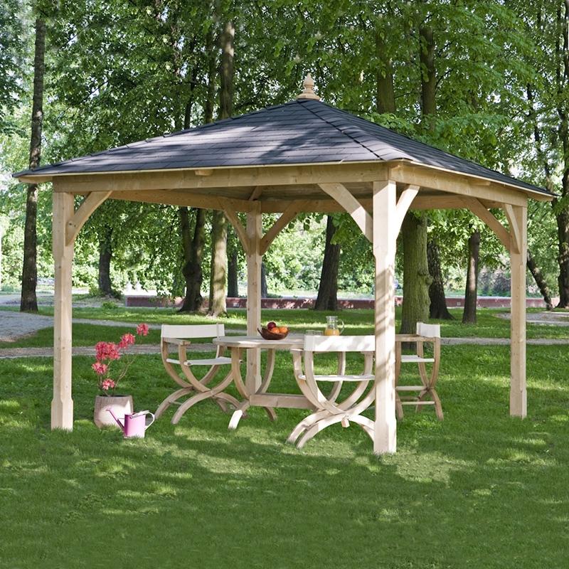 Gazebo a baldacchino da giardino in legno canopy arredo for Gazebo legno arredamento