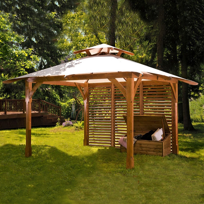 Gazebo a baldacchino in legno canopy lux arredo for Gazebo arredo giardino