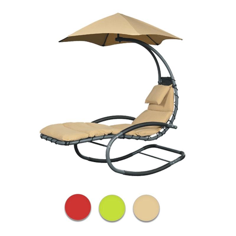 Sedia A Dondolo 515.Poltrona Pensile Nest Move Con Materasso E Ombrello Parasole