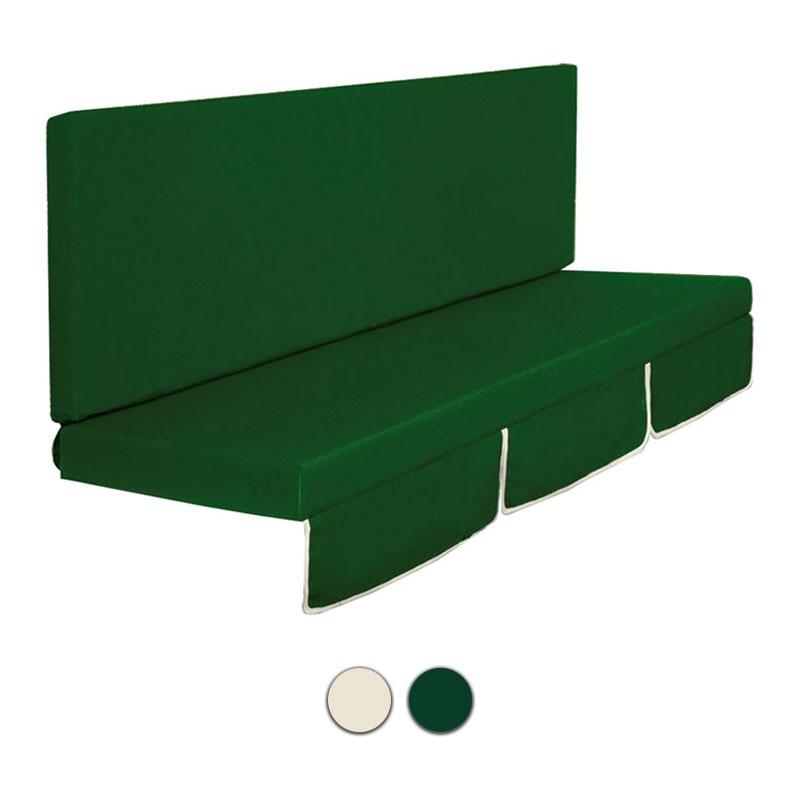 Cuscini Per Dondolo Cm 130.Cuscino Dondolo Mod Larice A 2 O 3 Posti Colore Verde O Ecru