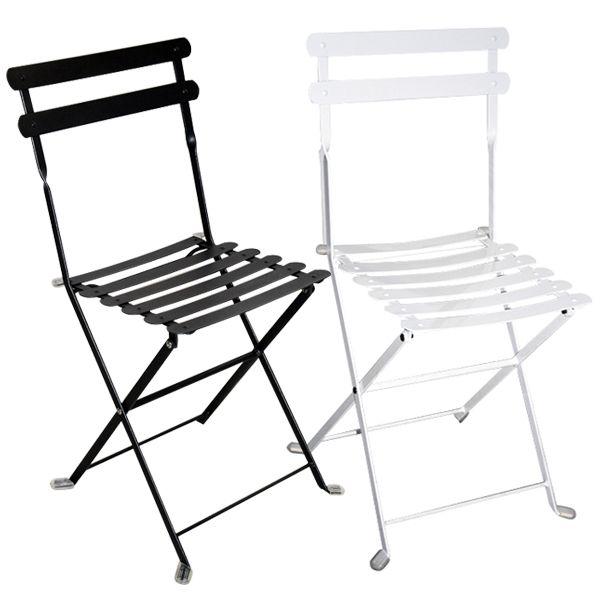 Sedia pieghevole da giardino in acciaio lario bianca e for Sedie in ferro e legno