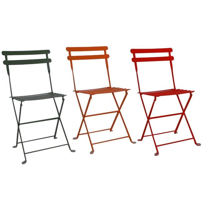 Sedie Da Esterno Colorate.Sedia Pieghevole Da Giardino In Acciaio Lario Verde Arancio