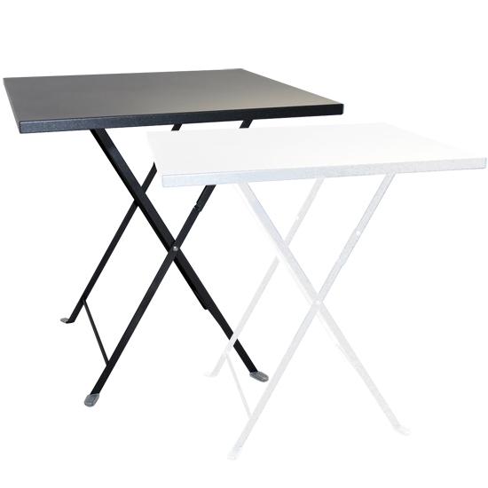 Tavolo pieghevole da giardino in acciaio lario quadrato - Tavolo esterno pieghevole ...