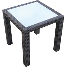 Tavolo Giardino Rattan Offerte.Tavolino Con Vetro In Rattan Sintetico E Alluminio Arredo