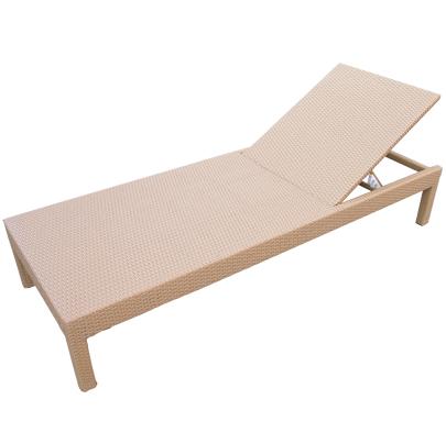 Lettino chaise longue 200 in rattan sintetico e alluminio - Chaise longue giardino ...