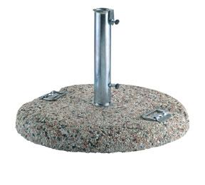 Base in graniglietto per ombrelloni con maniglie in acciaio Ø 60 cm