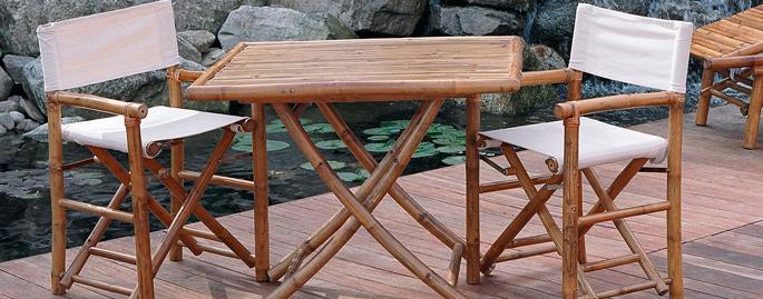 Sedia regista in bamb da giardino arredo for Arredo bambu