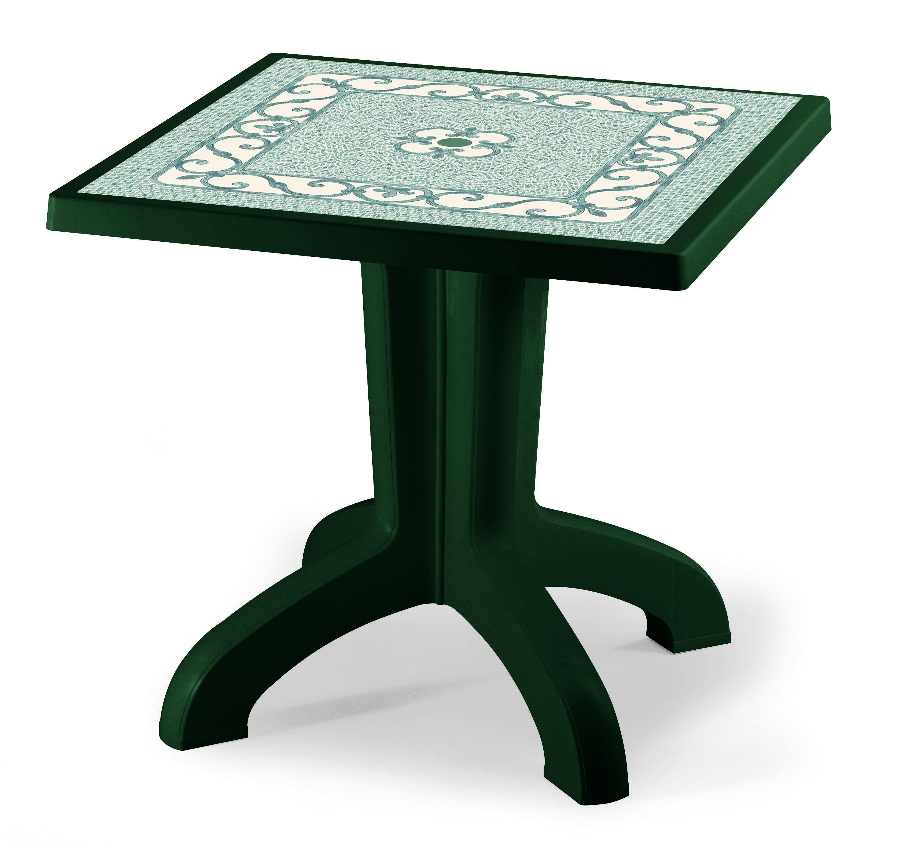 Tavolo da giardino daytona 80 x 80 contract in resina by - Salottini per esterno ...