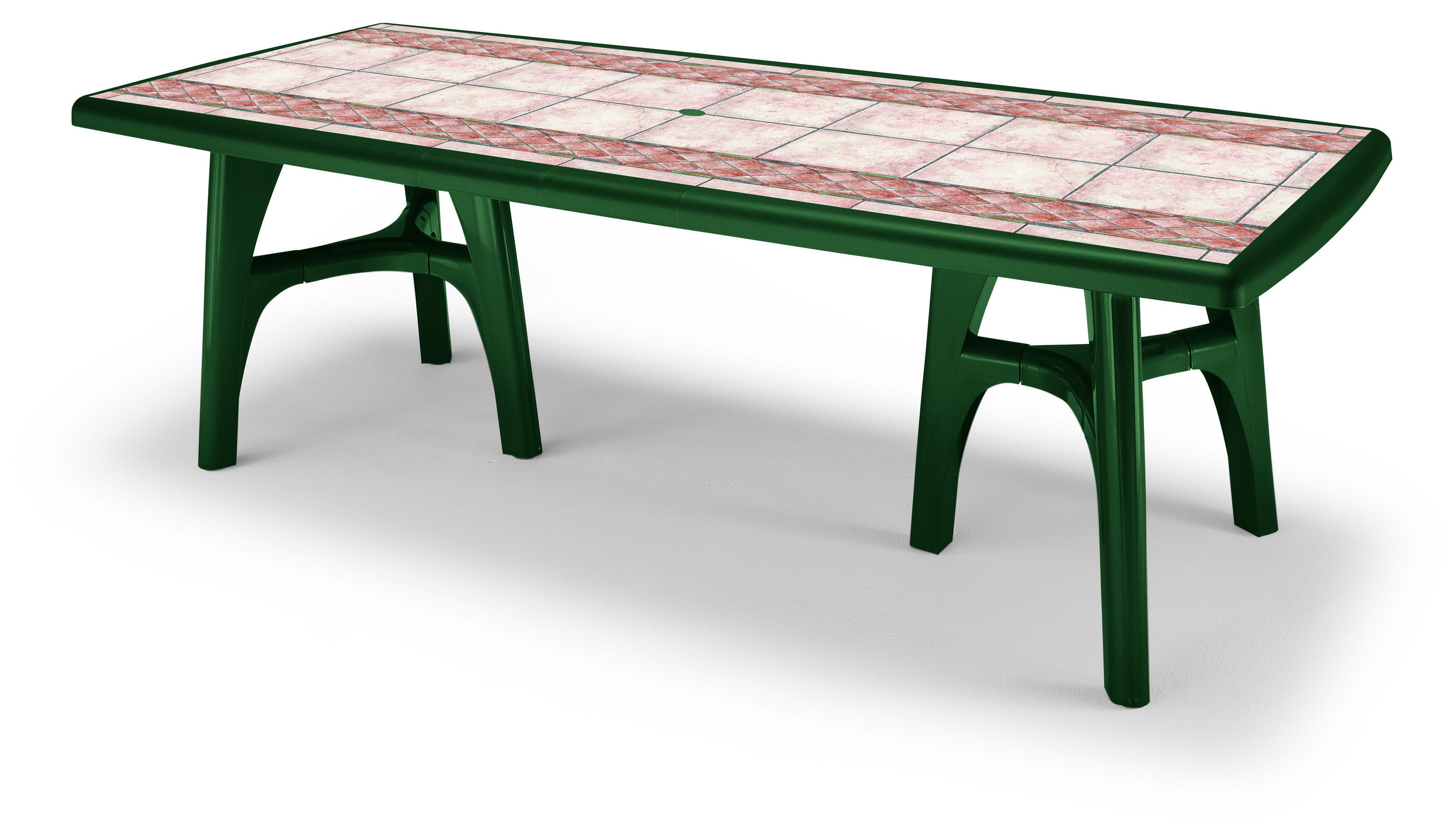 Tavolo da giardino president tris in resina allungabile by for Mobili giardino resina