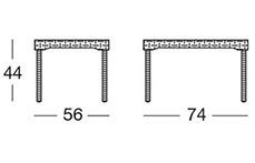 Dimensioni Tavolino OLLY by Scab