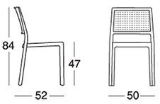 Dimensioni sedia EMI by Scab